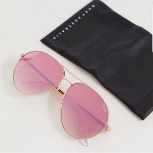 QUAY just sayin aviator sunglasses in rose gold